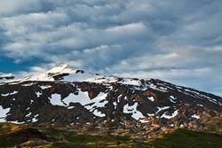 Snæfellsjökull (Snaefellsjokull) volcano and glacier, Iceland.