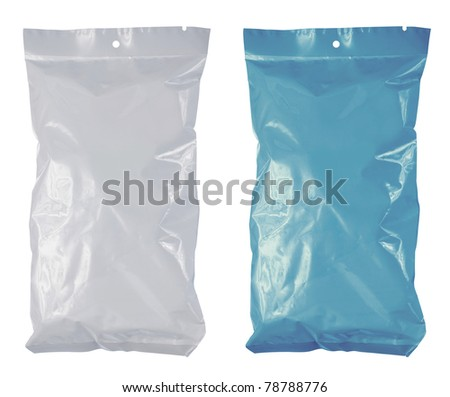 snack chips plastic pack. isolated on white