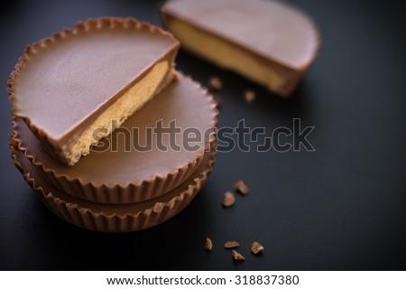 Snack Chocolate / Snack / Snack Chocolate on Black Background