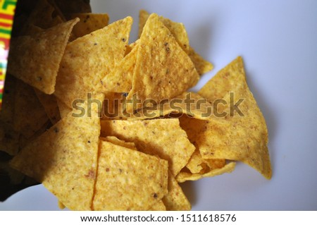 Snack. Dry crispy snacks - chips, crackers, grissini, tortilla