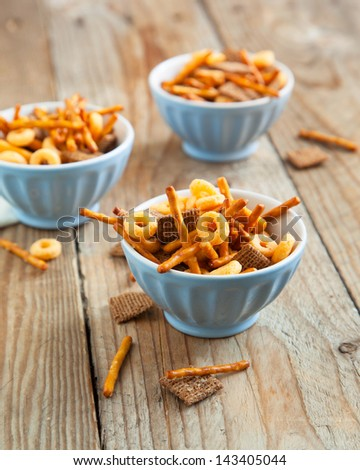 Snack Mix. Salty Treat For Snacking.