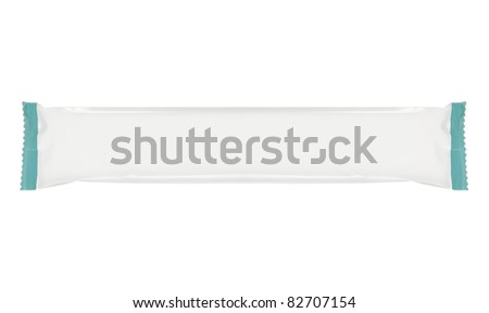 Snack package, ready for your design. isolated over white background