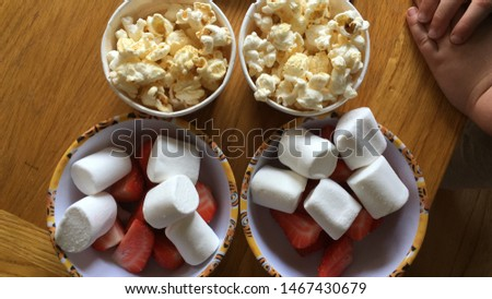 Snacks for kids. Movie snacks