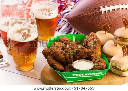Snacks for watching a football game. Super Bowl day party. #517347553