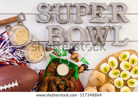 Snacks for watching a football game. Super Bowl day party. #517348864