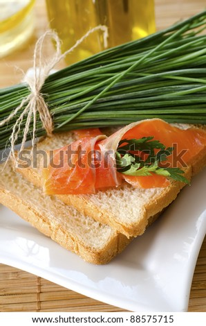 snacks with salmon