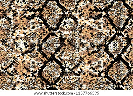 snake and leopard skin pattern #1157766595