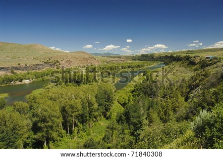 Snake river in eastern Idaho