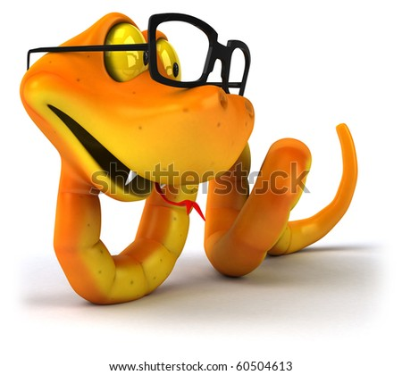 Snake with glasses