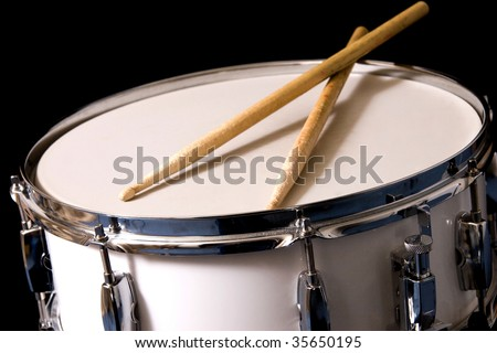 Snare Drum and Drum Sticks