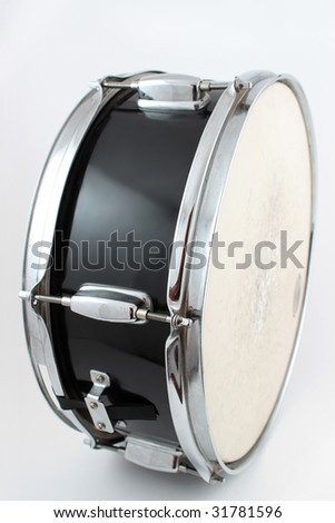 Snare drum  on a white background (shallow depth of field)