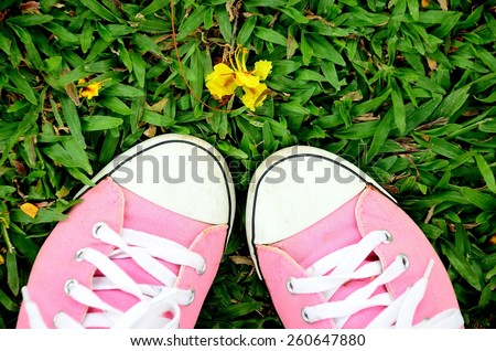 sneakers shoes old pink color footwear fashion converse foot green lawn style future  walking worn pink