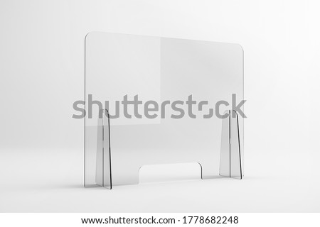 Sneeze guards, social distancing barriers and shields.  Stockfoto ©
