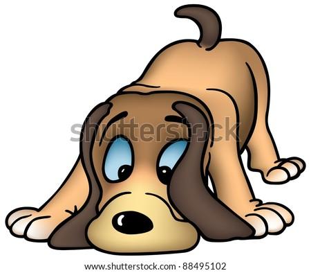 Sniffing Dog - cartoon illustration