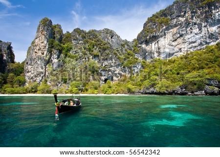 Snokeling Point at PhiPhi Island Phuket Andaman Thailand