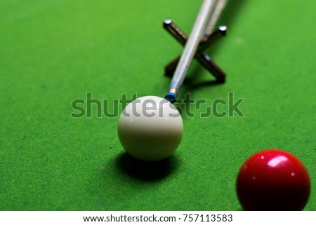 snooker ball on the shooker table #757113583