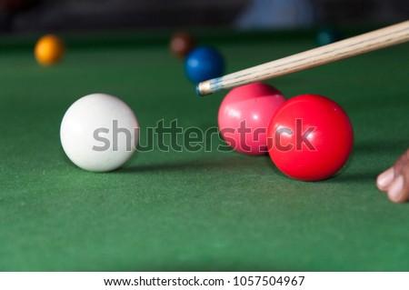 Snooker balls being played #1057504967