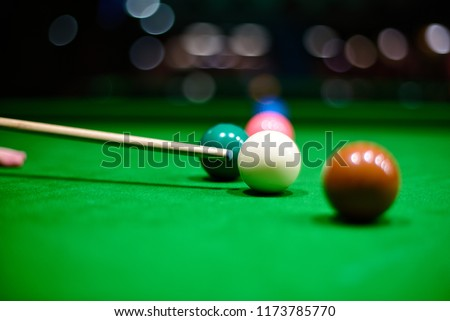 Snooker cue before the shot #1173785770