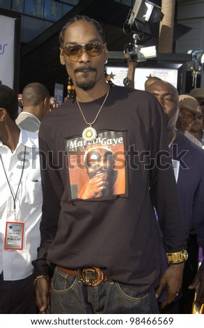 SNOOP DOGG at the 3rd Annual BET (Black Entertainment TV) Awards at the Kodak Theatre, Hollywood. June 24, 2003  Paul Smith / Featureflash
