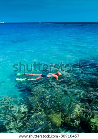 Snorkeling in a Coral Sea