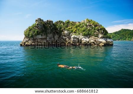 Snorkeling,  Isla Tortuga, Costa Rica #688661812