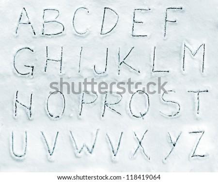 Snow alphabet font