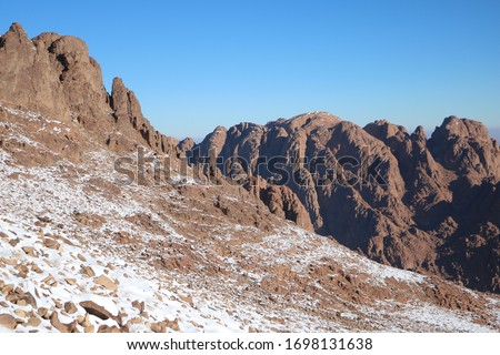 Snow and mountains in Egypt