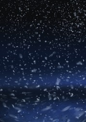 Snow are falling on the background