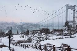 Snow at Bosphorus