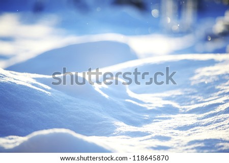 snow background close up
