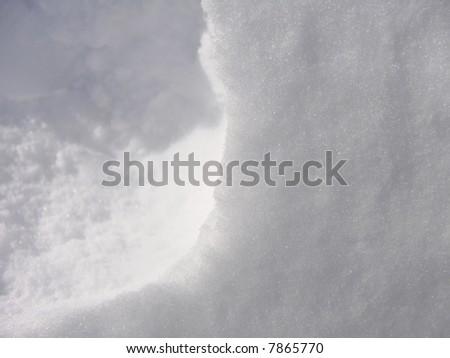 Snow Background Close-up