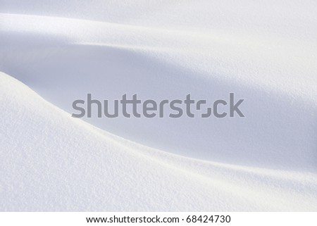 Snow background on sunny day