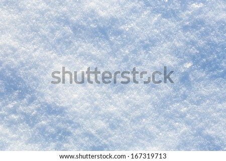 Snow background on sunny winter day