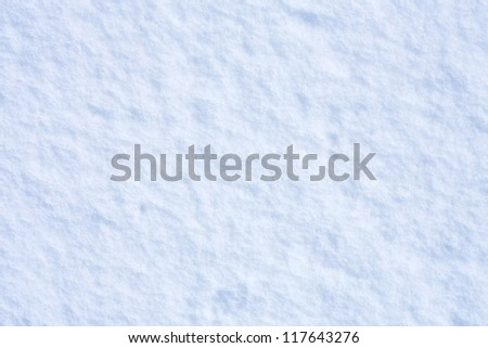 Snow background with blue tint