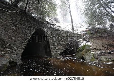 Stock Photo Snow Bridge