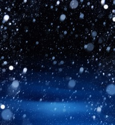 snow christmas magic lights background