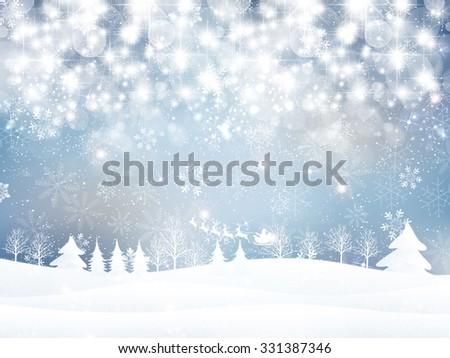 Stock Photo Snow Christmas Santa background