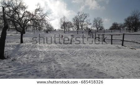 Snow Covered Hillside #685418326