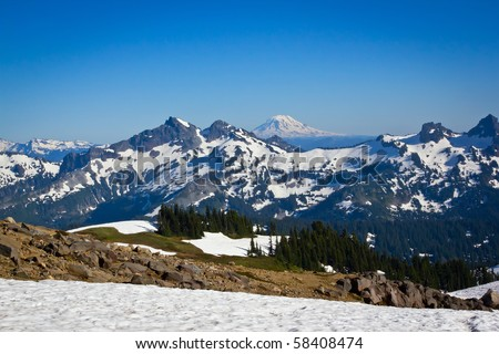 Covered mountains in the pacific northwest part of the united states