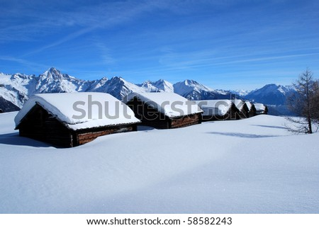 Snow-covered Sheds