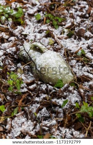 Snow Covered Vase #1173192799