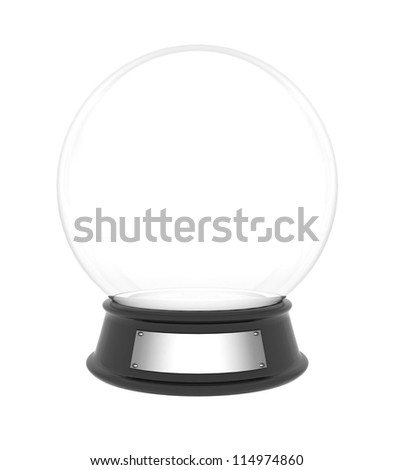 snow dome on a white background isolated - stock photo