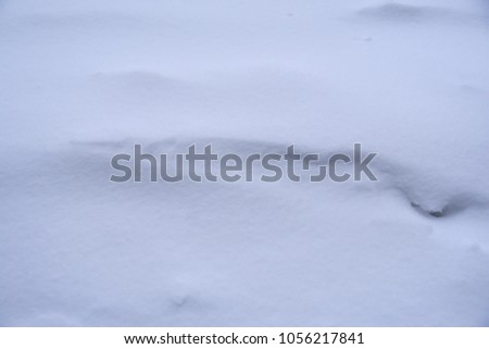 Snow drift closeup