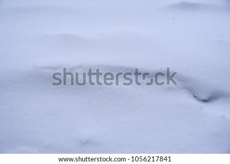 Snow drift closeup