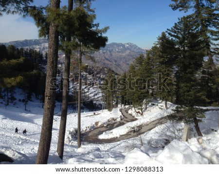 Snow fall ice pic taken during at murree pakistan during visit