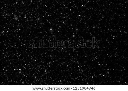 snow falling stock image