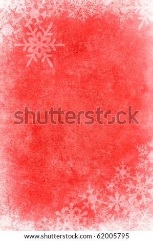 snow flake frame with red vintage red background for christmas festival