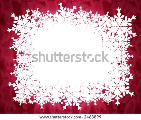 Snow Flakes Border - Winter theme
