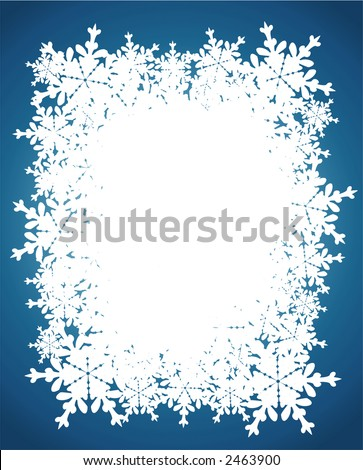 Snow Flakes Border - Winter theme