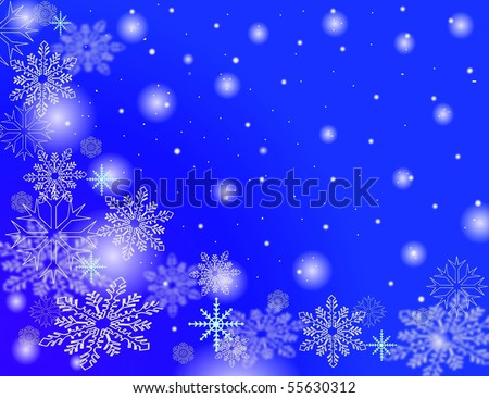 stock photo : snow flakes falling